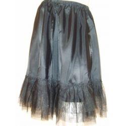 Petticoat Unterrock aus Tüll in schwarz oder weiß für kurze Dirndl mit Glimmereffekt