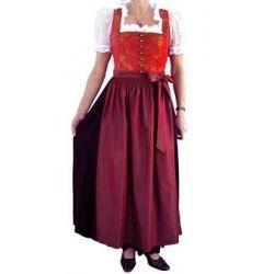 Maxi Dirndl Wanda rot orange schwarz