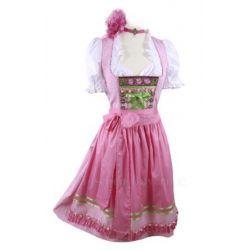 Mini-Dirndl kurz - Rosa -Dirndl-Set 3tlg. Wiesn-Dirndl 60cm