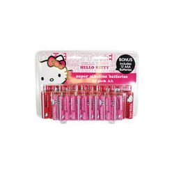 Sakar Hello Kitty Super AA / AAA Alkaline Batteries 24AA-ALK-09