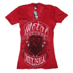 bluzka damska METAL MULISHA - RIDE ON czerwona