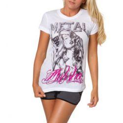 bluzka damska METAL MULISHA - NOT FORGOTTEN biała