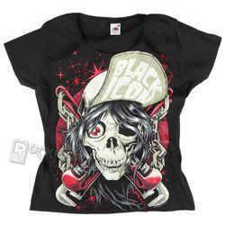 bluzeczka dziewczęca BLACK ICON - INDUSTRIAL SKULL (DICON120 BLACK)
