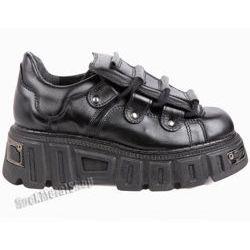 buty KMM wysoka podeszwa, czarne (wz357) [KMM-021]