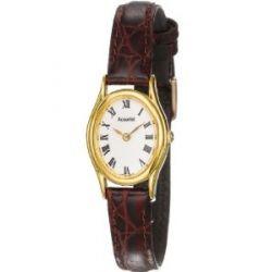 Accurist Damen-Armbanduhr Analog Leder braun LS592