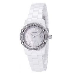 Accurist Damen-Armbanduhr Analog Keramik weiss LB1651W