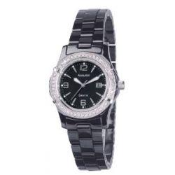Accurist Damen-Armbanduhr Analog Keramik schwarz LB1650B