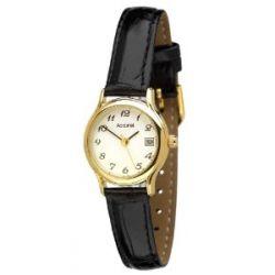 Accurist Damen-Armbanduhr Analog Leder schwarz LS630