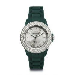 Avalanche Uhr - BLISS - trendige Armbanduhr mit 100 Steinen - Ø 44mm - grün