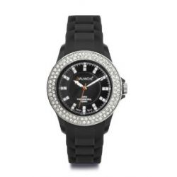 Avalanche Uhr - BLISS - trendige Armbanduhr mit 100 Steinen - Ø 40mm - schwarz