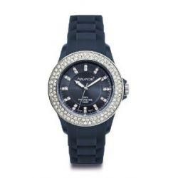Avalanche Uhr - BLISS - trendige Armbanduhr mit 100 Steinen - Ø 44mm / blau