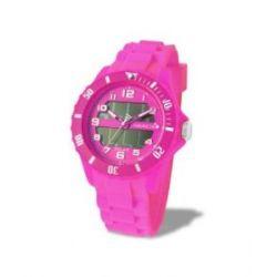 Avalanche Uhr - SOLAR - trendige Unisex Armbanduhr - pink / läuft ohne Batterie