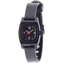 Baby Watch Mädchen-Armbanduhr Analog Plastik schwarz Nano color noire