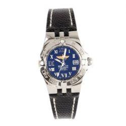 Breitling Damen-Armbanduhr XS Galactic Analog Quarz Leder A71340L2/B950/168Z