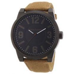 Bruno Banani Herren-Armbanduhr XL TARAS BIG Analog Quarz Leder BR21105