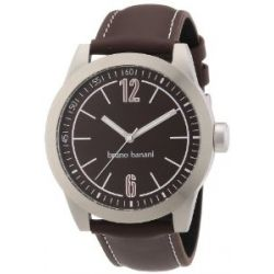 Bruno Banani Herren-Armbanduhr XL TARAS GENTS Analog Quarz Leder BR21110