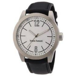 Bruno Banani Herren-Armbanduhr XL TARAS GENTS Analog Quarz Leder BR21109