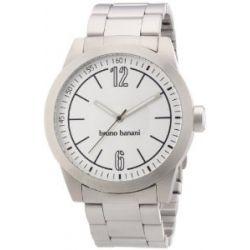 Bruno Banani Herren-Armbanduhr XL TARAS GENTS Analog Quarz Edelstahl BR21112