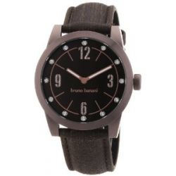 Bruno Banani Damen-Armbanduhr TARAS LADIES Analog Quarz Leder BR21117