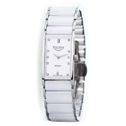 Bruno Söhnle Thalia 2 Analog Quarz Damen Uhr Weiß Brillianten 17-93099-952