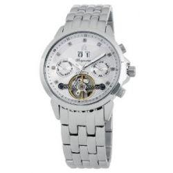 Burgmeister Imperia BM141-111 Damen Automatik Uhr Edelstahl weiß offene Unruh Datum/Tag/Monat Diamanten