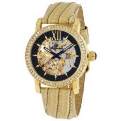 Burgmeister Damen-Armbanduhr Malaga Analog Automatik Leder BM158-202