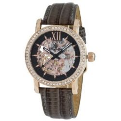 Burgmeister Damen-Armbanduhr Malaga Analog Automatik Leder BM158-305