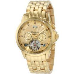 Burgmeister Imperia BM141-279 Damen Automatik Uhr IP Gold gold offene Unruh Datum/Tag/Monat Diamanten