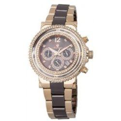 Burgmeister Damen-Armbanduhr Chronograph Quarz Edelstahl beschichtet BM215-398