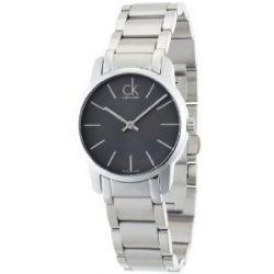 Calvin Klein Damen-Armbanduhr XS City Lady Analog Edelstahl K2G23161