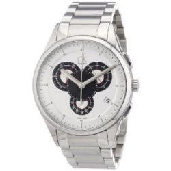Calvin Klein Herren-Armbanduhr XL Basic Chrono Chronograph Edelstahl K2A27185