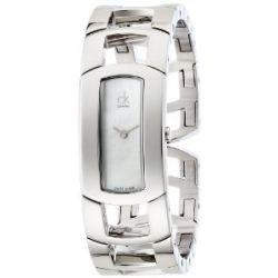 Calvin Klein Damen-Armbanduhr ck dress Analog Quarz Edelstahl K3Y2M11G