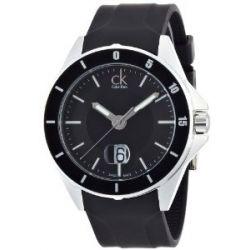 Calvin Klein Herren-Armbanduhr XL ck play Analog Kautschuk K2W21XD1