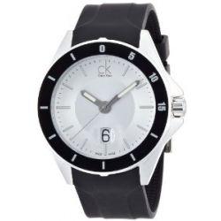 Calvin Klein Herren-Armbanduhr XL ck play Analog Kautschuk K2W21XD6