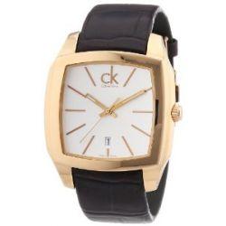 Calvin Klein Herren-Armbanduhr XL Recess Analog Leder K2K21620