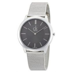 Calvin Klein Herren-Armbanduhr XL minimal Analog Quarz Edelstahl K3M21124