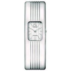 Calvin Klein Damen-Armbanduhr XS Chrysler Analog Edelstahl K8123120