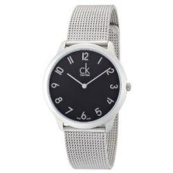 Calvin Klein Herren-Armbanduhr XL minimal Analog Quarz Edelstahl K3M51151