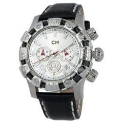 Carlo Monti Herren-Armbanduhr XL Arezzo Chronograph Quarz Leder CM122-112