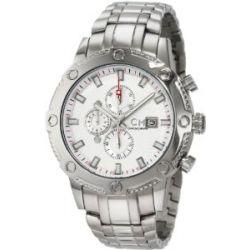 Carlo Monti Herren-Armbanduhr Stahl/weiß/Stahl CM100-111