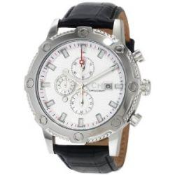 Carlo Monti Herren-Armbanduhr Stahl/weiß/Leder CM100-112