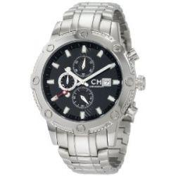 Carlo Monti Herren-Armbanduhr Stahl/schwarz/Stahl CM100-121