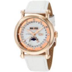 Carlo Monti Damen-Armbanduhr Rotgold/weiß CM110-386 IP