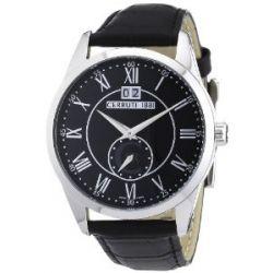 Cerruti Herren-Armbanduhr XL Analog Quarz Leder CRA067A222D