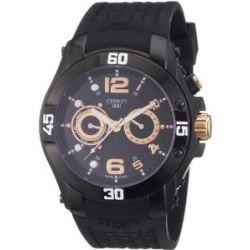 Cerruti Herren-Armbanduhr XL TESSIO Analog Silikon CRA011F224C