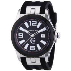 Cerruti Herren-Armbanduhr XL Analog Quarz Kautschuk CRA061E222C