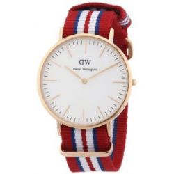 Daniel Wellington Herren-Armbanduhr XL Exeter Analog Quarz Nylon 0112DW