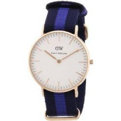 Daniel Wellington Damen-Armbanduhr Swansea Analog Quarz Nylon 0504DW
