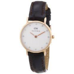 Daniel Wellington Damen-Armbanduhr XS Classy York Analog Quarz Leder 0902DW