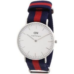 Daniel Wellington Damen-Armbanduhr Oxford Analog Quarz Nylon 0601DW
